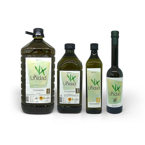 Aceite de Oliva Virgen Extra (AOVE) La Unidad D.O.P. Aceite Monterrubio EVOOLEUM Awards