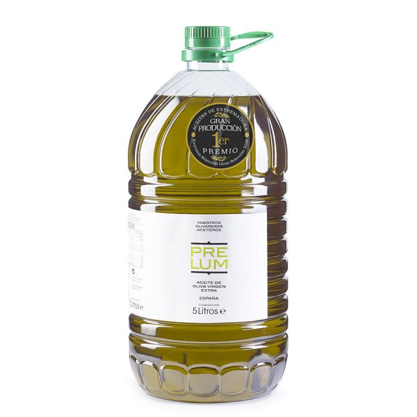 "Comprar Aceite de Oliva Virgen Extra ""PRELUM"", Primer Premio Aceites de Oliva de Extremadura"