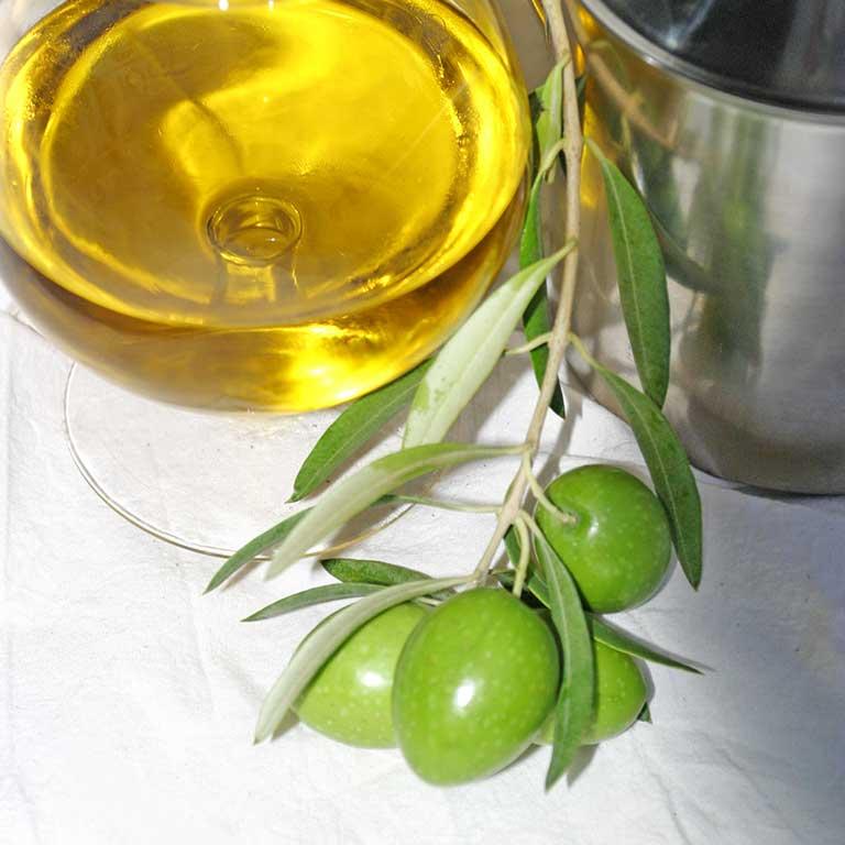 Vaso de aceite de oliva de almazara La Unidad