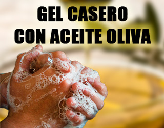 Gel casero con aceite de oliva