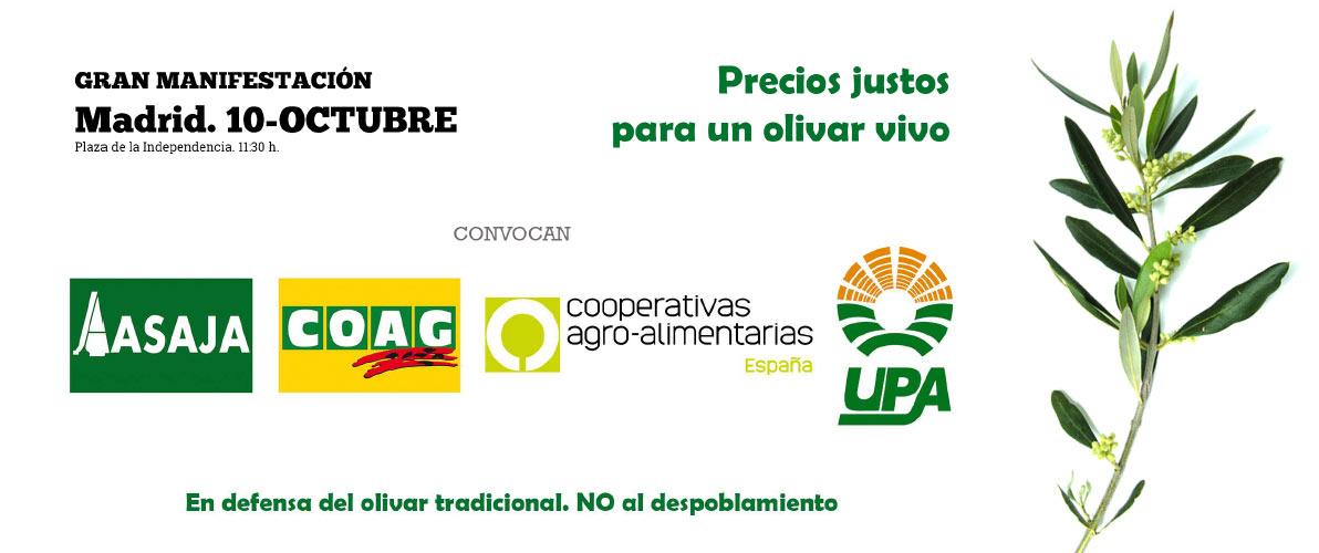 Manifestación Precios Justos por un Olivar Vivo - Madrid 10 octubre 2019