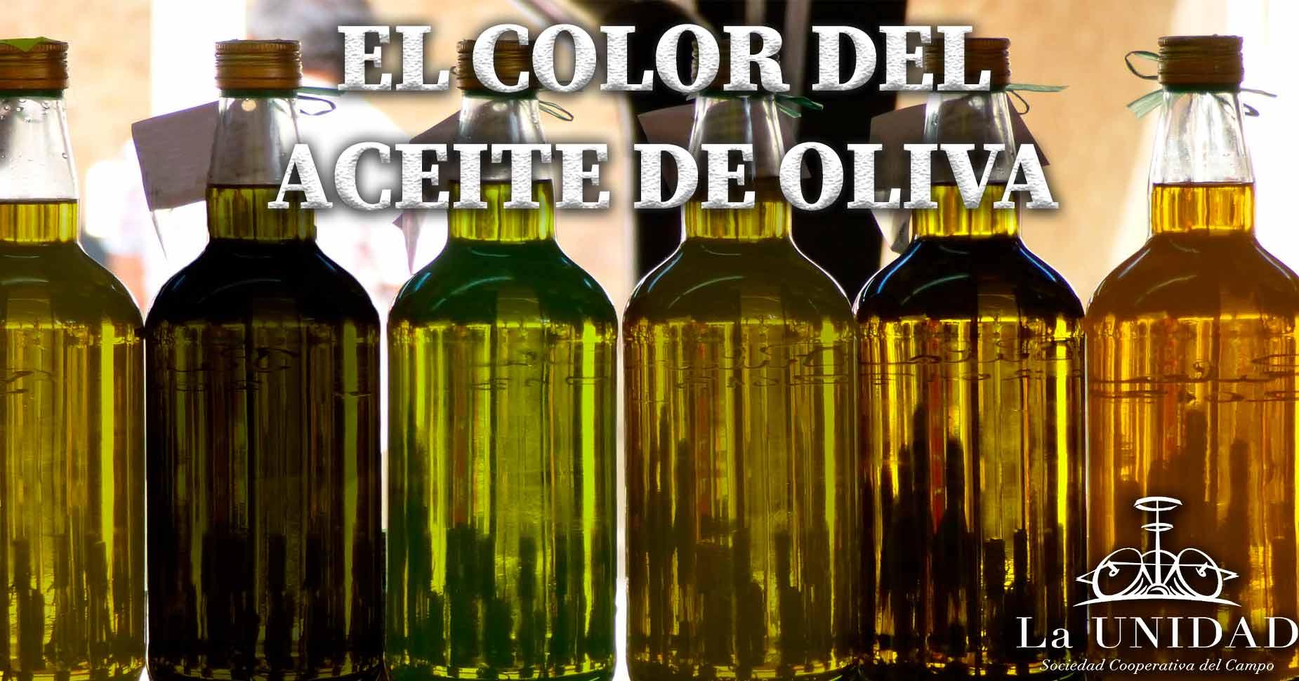 El color del aceite de oliva