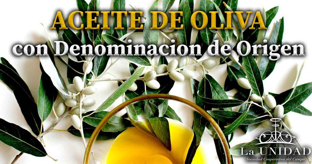 Aceite de oliva con denominacion de origen