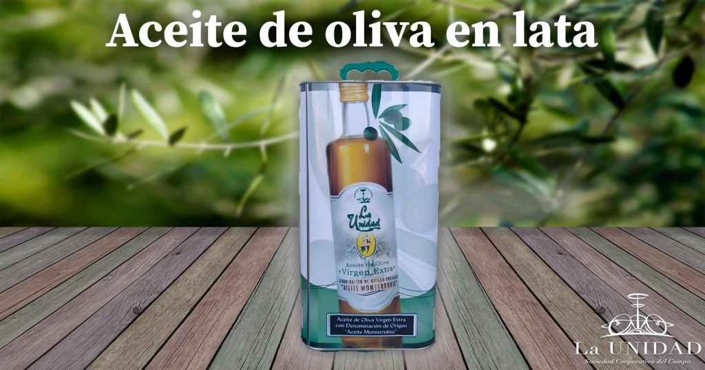 aceite de oliva virgen extra en lata