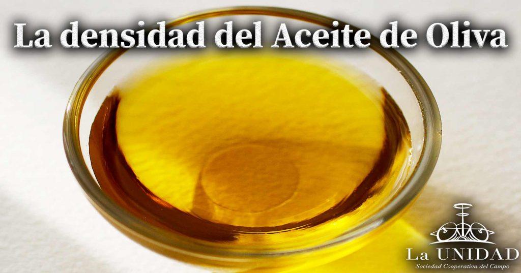 densidad del aceite de oliva